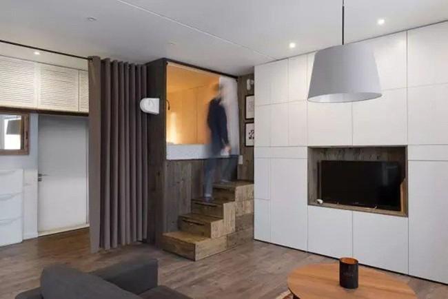 Mẹo sắp xếp đồ đạc tăng lưu trữ giúp không gian căn hộ 35m2 tiện nghi, thoáng rộng của vợ chồng trẻ - Ảnh 3.