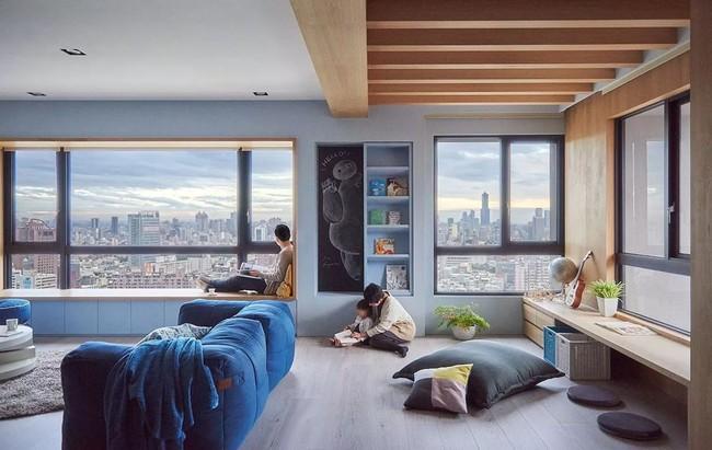 Bí mật trong căn hộ màu xanh khiến tất cả các gia đình trẻ đều hài lòng khi ngắm nhìn - Ảnh 4.