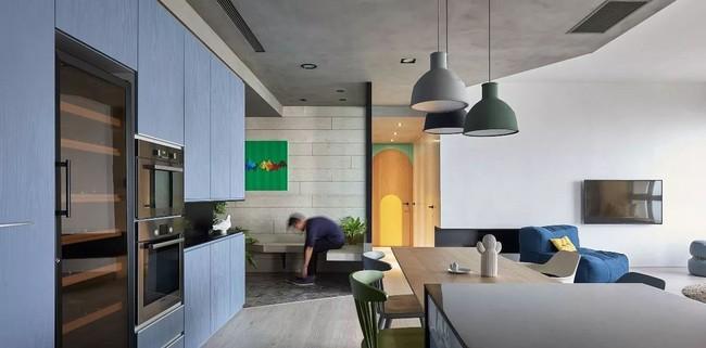 Bí mật trong căn hộ màu xanh khiến tất cả các gia đình trẻ đều hài lòng khi ngắm nhìn - Ảnh 14.
