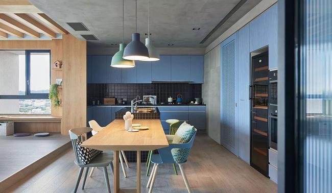 Bí mật trong căn hộ màu xanh khiến tất cả các gia đình trẻ đều hài lòng khi ngắm nhìn - Ảnh 9.