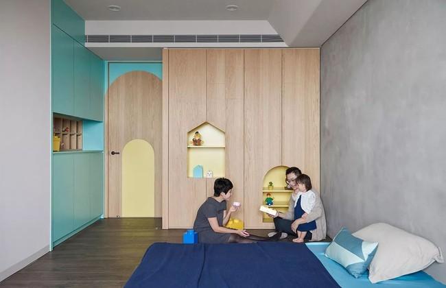 Bí mật trong căn hộ màu xanh khiến tất cả các gia đình trẻ đều hài lòng khi ngắm nhìn - Ảnh 18.