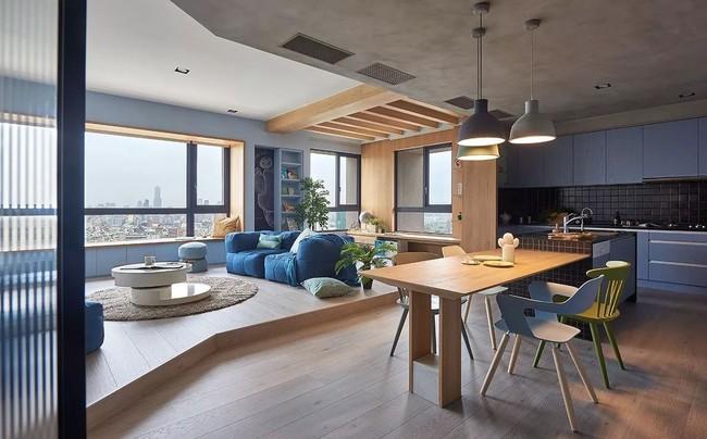 Bí mật trong căn hộ màu xanh khiến tất cả các gia đình trẻ đều hài lòng khi ngắm nhìn - Ảnh 6.