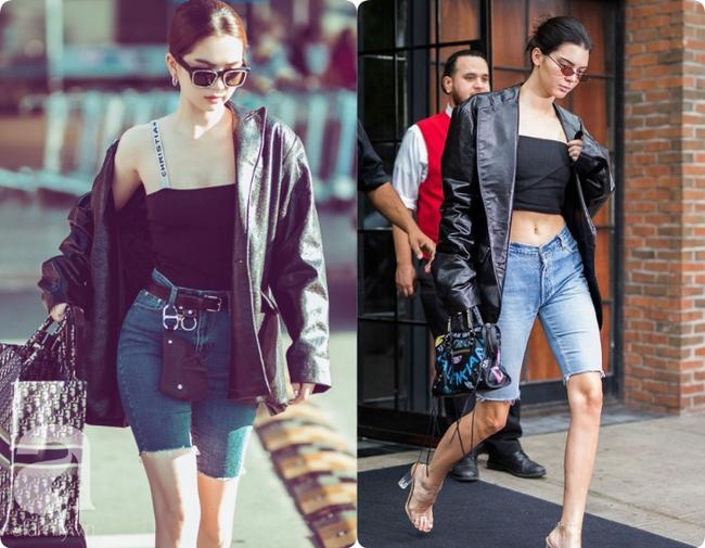 """Khoe quần jeans """"trước sau như một"""", tưởng không ai dám mặc hóa ra Ngọc Trinh lại đụng hàng với cô em chân siêu dài nhà Kim - Ảnh 8."""