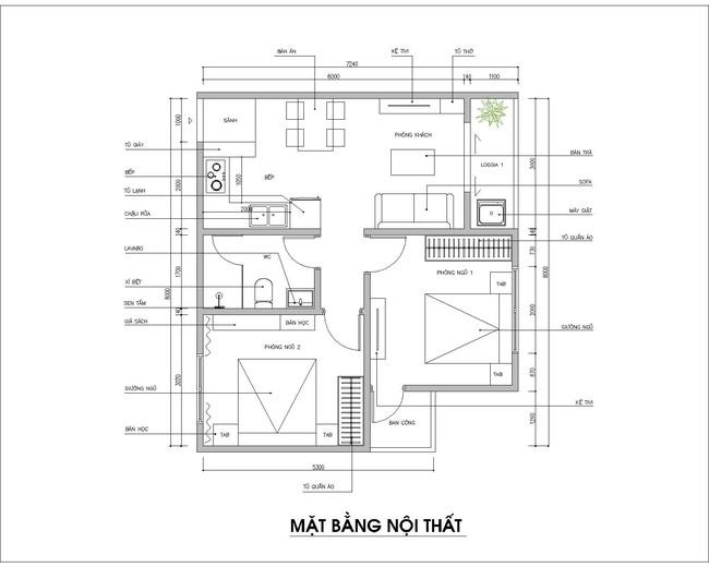 Tư vấn thiết kế nội thất phù hợp giúp gia chủ với căn hộ 54m2 có tổng chi phí 145 triệu đồng - Ảnh 1.