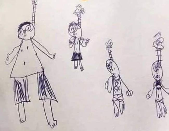 """Nhìn tranh, tưởng học sinh của mình bị trầm cảm, cô giáo vội gặp riêng để hỏi thăm và câu trả lời khiến cô """"ngã ngửa"""" - Ảnh 1."""