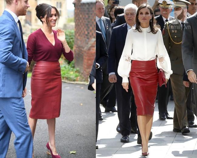 Meghan Markle chẳng ngán để lộ bụng to còn Hoàng hậu Letizia thì đẹp miễn bàn khi đụng chân váy da sang chảnh - Ảnh 7.