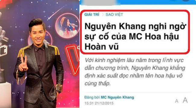 Từng chê bai MC Miss Universe đọc sai kết quả, Nguyên Khang gặp sự cố tương tự và bị chỉ trích không kém - Ảnh 2.