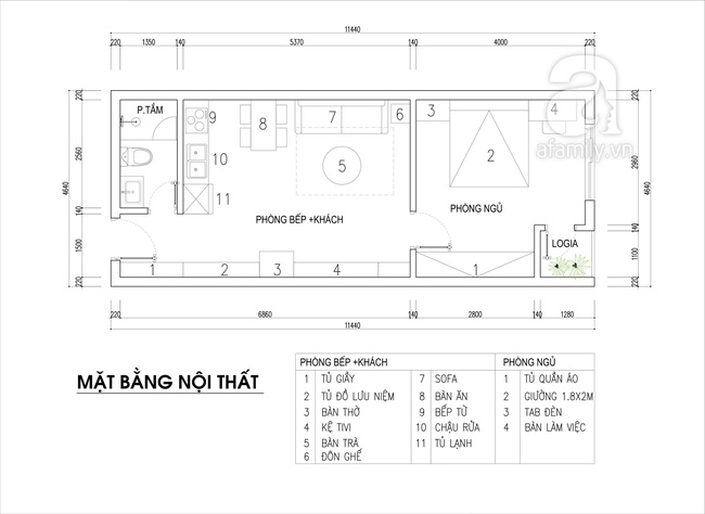 Tư vấn thiết kế căn hộ chung cư diện tích 47m2 đã ở được 5 năm cho cán bộ nhân viên nhà nước với chi phí 100 triệu đồng - Ảnh 1.