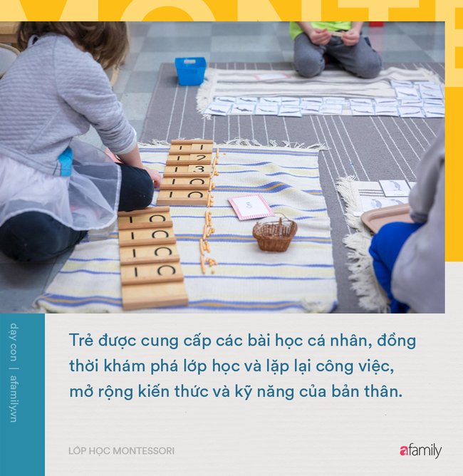 1 ngày học điển hình của lớp học Montessori: Yếu tố tự do khám phá của trẻ được đặt lên hàng đầu - Ảnh 2.