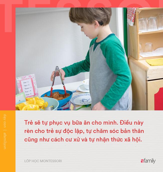 1 ngày học điển hình của lớp học Montessori: Yếu tố tự do khám phá của trẻ được đặt lên hàng đầu - Ảnh 3.