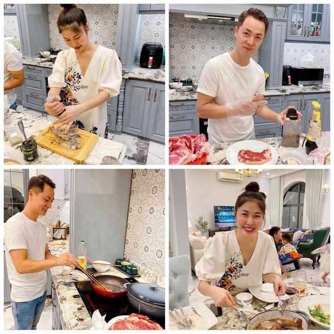 Vợ chồng Thủy Anh - Đăng Khôi rủ nhau vào bếp nấu món mùa đông, nhưng bãi chiến trường do người này dọn dẹp mới gây chú ý - Ảnh 2.