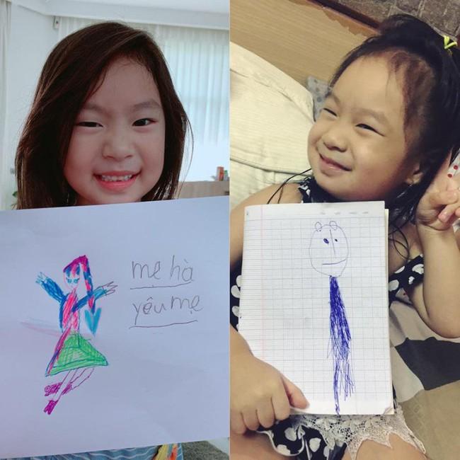 """Bà xã Lý Hải """"dậy thì thành công"""" trong tranh vẽ của con gái, nhưng khả năng viết chữ của Cherry cùng lời nhắn ngọt ngào mới bất ngờ - Ảnh 2."""