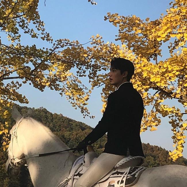 Lộ tạo hình siêu điển trai của Lee Min Ho cưỡi bạch mã giữa rừng lá vàng trong phim mới được viết bởi biên kịch Hậu duệ mặt trời  - Ảnh 5.