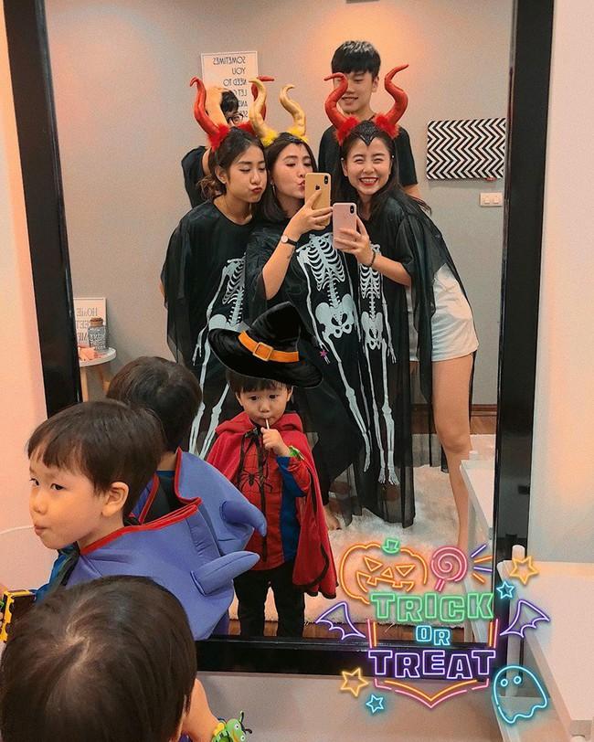 """Halloween nhà các hot mom: Trang Đinh cosplay nhóc Dứa thành chú Minion siêu cute, Sữa """"chủ tịch"""" hóa trang thành phù thủy lùn siêu hài - Ảnh 8."""