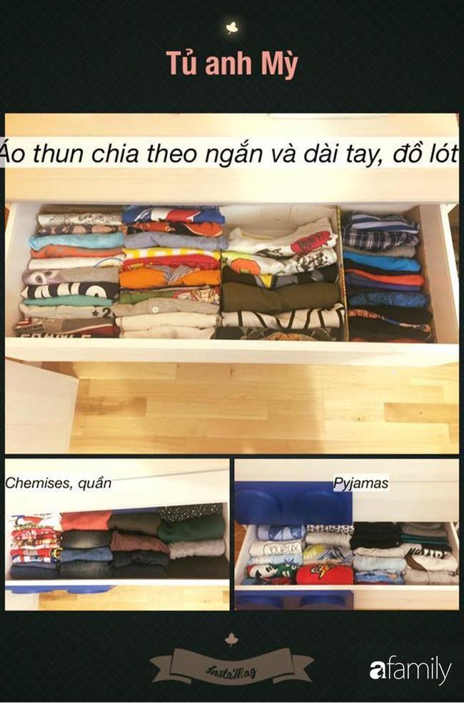 Mẹ Việt học người Nhật cách sắp xếp tủ đồ giúp nhà luôn gọn đẹp - Ảnh 2.