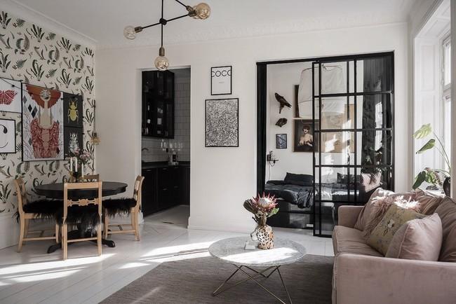 Điểm chút sắc hồng tươi sáng cho căn hộ ở Nga, thiết kế vẫn hiện lên đặc trưng nét sang trọng trong từng góc cạnh - Ảnh 1.