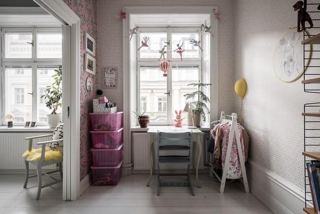 Điểm chút sắc hồng tươi sáng cho căn hộ ở Nga, thiết kế vẫn hiện lên đặc trưng nét sang trọng trong từng góc cạnh - Ảnh 13.