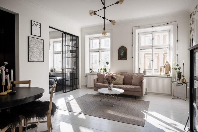 Điểm chút sắc hồng tươi sáng cho căn hộ ở Nga, thiết kế vẫn hiện lên đặc trưng nét sang trọng trong từng góc cạnh - Ảnh 5.