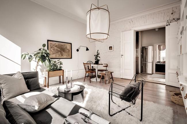 Bài trí nội thất tưởng đơn giản, ít ỏi, căn hộ nhỏ 44m2 ở Nga vẫn hiện lên vô cùng lộng lẫy - Ảnh 7.