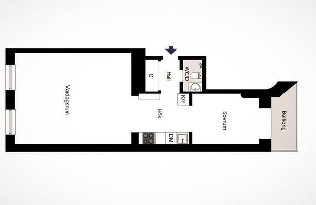Bài trí nội thất tưởng đơn giản, ít ỏi, căn hộ nhỏ 44m2 ở Nga vẫn hiện lên vô cùng lộng lẫy - Ảnh 23.