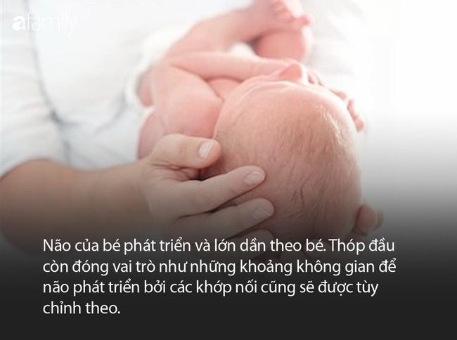Thóp đầu mà trẻ sơ sinh nào cũng có và một số điều mà bà mẹ nào cũng cần phải biết - Ảnh 3.