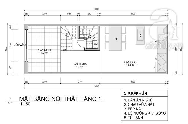 Tư vấn thiết kế nhà ở gia đình có diện tích (3.5x10m2) theo phong cách tối giản với chi phí hơn 900 triệu - Ảnh 1.