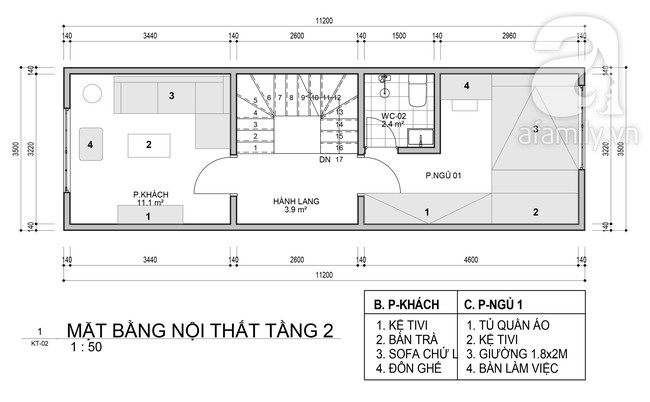 Tư vấn thiết kế nhà ở gia đình có diện tích (3.5x10m2) theo phong cách tối giản với chi phí hơn 900 triệu - Ảnh 2.