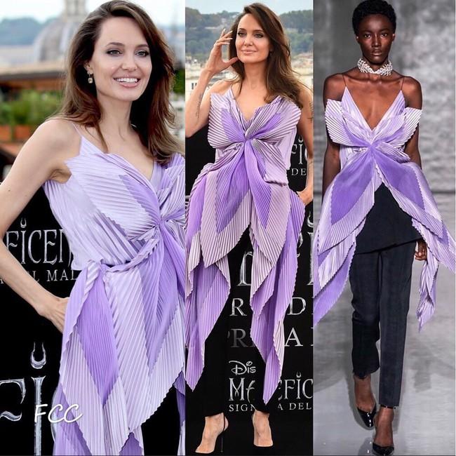 """Angelina Jolie lại chiếm spotlight với diện mạo như nữ thần Hy Lạp khi thay liền 2 bộ đồ từ """"khó cảm"""" đến gợi cảm - Ảnh 4."""