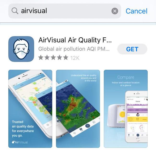 """Sau vài ngày bị """"bay màu"""", AirVisual cuối cùng cũng trở lại chợ ứng dụng, dân Việt đồng loạt vào rate 5 sao và khen ngợi nức nở - Ảnh 2."""