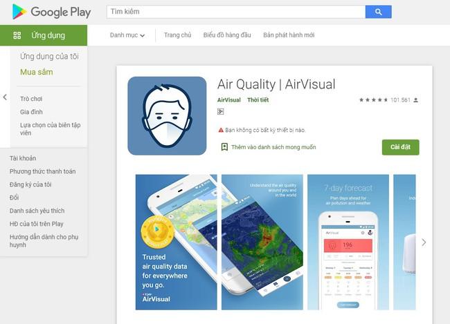 """Sau vài ngày bị """"bay màu"""", AirVisual cuối cùng cũng trở lại chợ ứng dụng, dân Việt đồng loạt vào rate 5 sao và khen ngợi nức nở - Ảnh 3."""