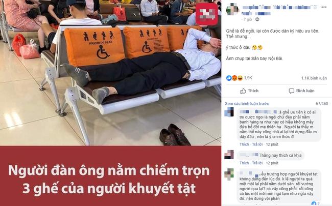 """Đăng đàn tố hành khách ở sân bay thiếu ý thức, nam thanh niên bất ngờ bị cộng đồng mạng """"ném đá"""" ngược - Ảnh 1."""