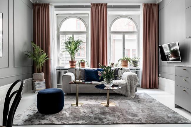Một chút màu xanh coban sẫm cho căn hộ ở Nga đẹp sang chảnh đến khó cưỡng - Ảnh 1.
