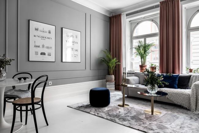 Một chút màu xanh coban sẫm cho căn hộ ở Nga đẹp sang chảnh đến khó cưỡng - Ảnh 2.