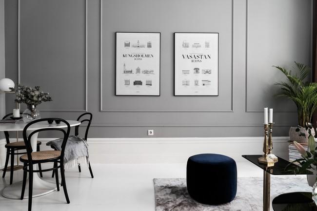 Một chút màu xanh coban sẫm cho căn hộ ở Nga đẹp sang chảnh đến khó cưỡng - Ảnh 3.