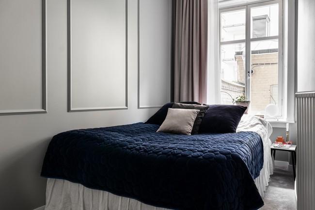 Một chút màu xanh coban sẫm cho căn hộ ở Nga đẹp sang chảnh đến khó cưỡng - Ảnh 8.