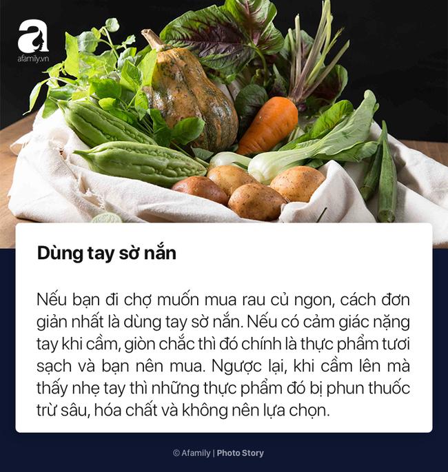To nhỏ cho chị em mới lần đầu đi chợ cách chọn rau củ quả tươi ngon không dính hóa chất cực kỳ đơn giản - Ảnh 8.