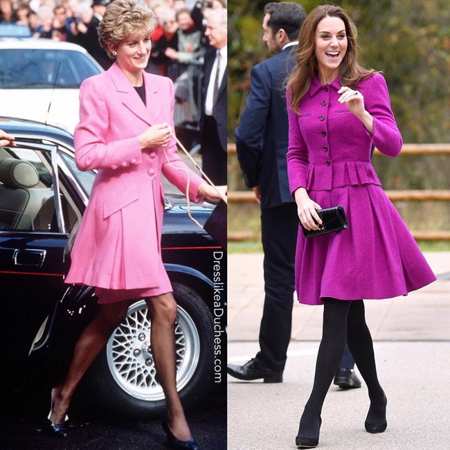 Diện đồ tím chuẩn trend, Công nương Kate lại khiến dân tình nhớ đến hình ảnh của mẹ chồng Diana - Ảnh 3.