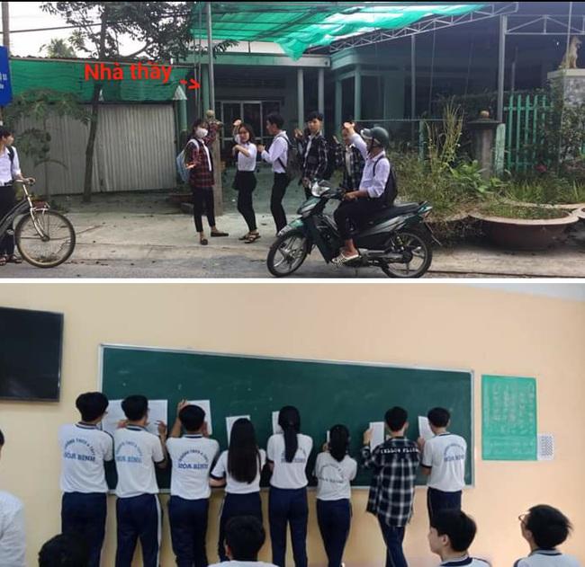 Hớn hở đến nhà thầy chụp ảnh check-in, nhóm học sinh nhận cái kết đắng còn dân mạng thì hả hê: Lúc đi hết mình, lúc về hết hồn - Ảnh 2.