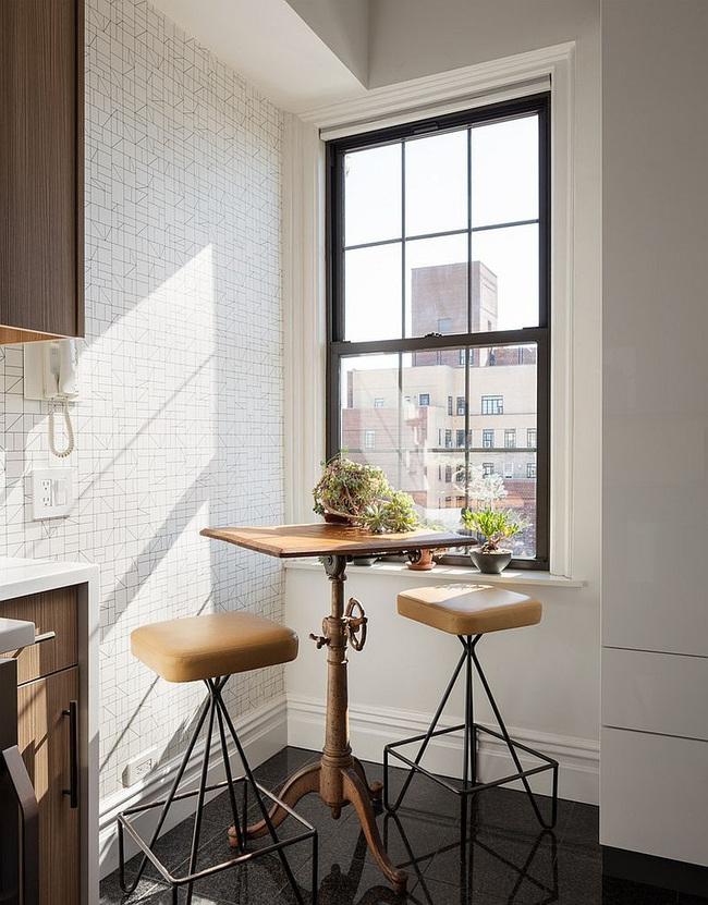 10 nhà bếp nhỏ vẫn có nơi ăn sáng đáng yêu, xinh xắn nhờ cách thiết kế thông minh - Ảnh 1.