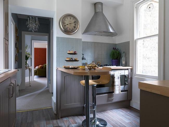 10 nhà bếp nhỏ vẫn có nơi ăn sáng đáng yêu, xinh xắn nhờ cách thiết kế thông minh - Ảnh 7.