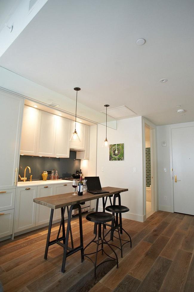 10 nhà bếp nhỏ vẫn có nơi ăn sáng đáng yêu, xinh xắn nhờ cách thiết kế thông minh - Ảnh 8.