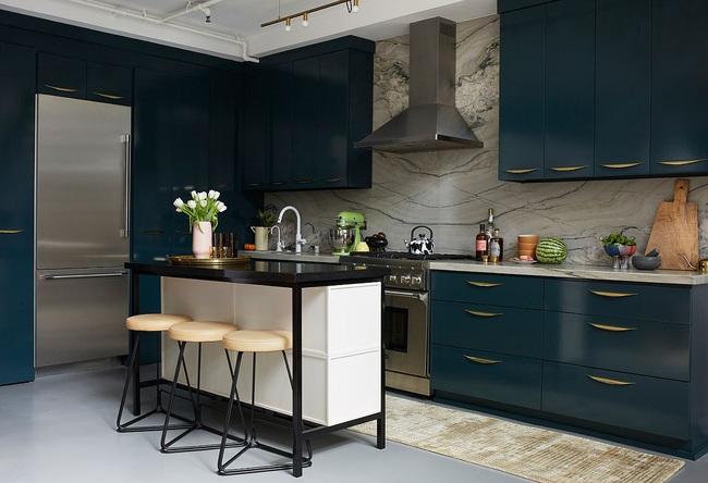 10 nhà bếp nhỏ vẫn có nơi ăn sáng đáng yêu, xinh xắn nhờ cách thiết kế thông minh - Ảnh 9.
