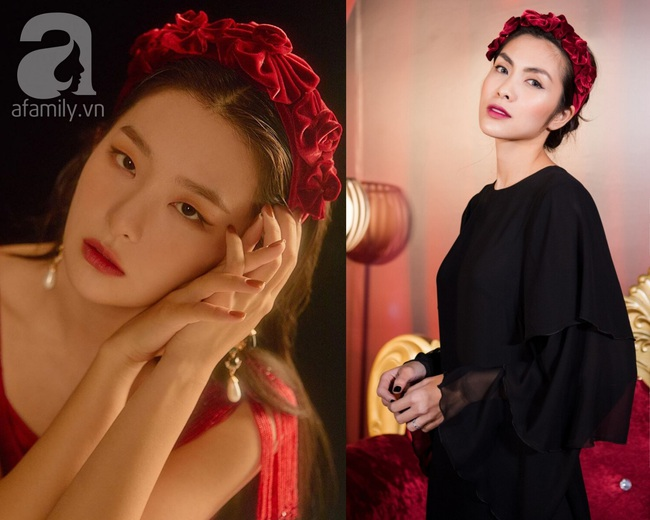 """Làm điệu với bờm nhung đỏ: Seulgi lộng lẫy như công chúa Hoàng gia, Hà Tăng biến hóa cực """"nuột"""" từ trẻ xinh đến bí ẩn - Ảnh 7."""
