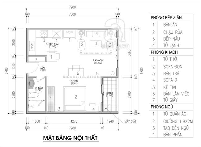 Tư vấn thiết kế căn hộ chung cư 45m2 dành cho người sống độc thân với chi phí 110 triệu đồng - Ảnh 2.