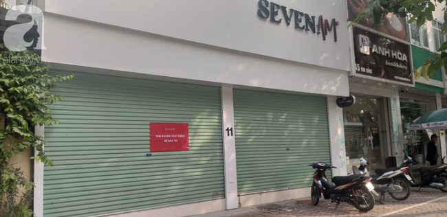 Seven.Am trên đường Kim Đồng, quận Hoàng Mai cũng đóng cửa từ nhiều ngày nay