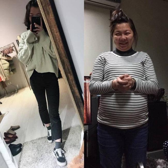Mẹ bầu 83kg giảm 50kg trong vòng 5 tháng khiến dân mạng trầm trồ không ngớt - Ảnh 1.