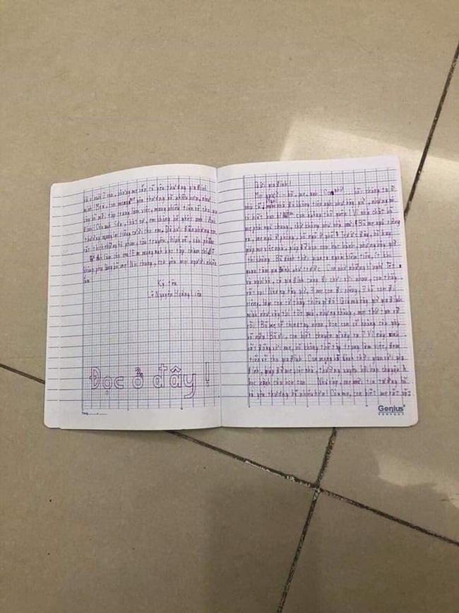 """Xôn xao lá thư tuyệt mệnh của bé gái 11 tuổi nhảy lầu chung cư tự tử vì chuyện gia đình khiến ai cũng phải xót xa: """"Giá mà bây giờ gia đình mình như vậy thì tốt quá, nhưng không, mọi thứ tan vỡ rồi""""  - Ảnh 1."""