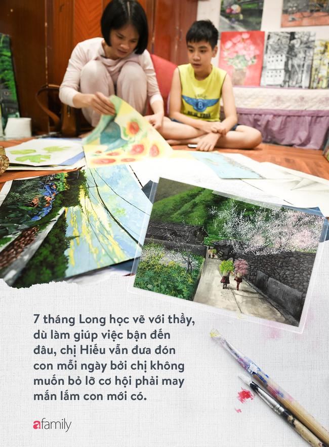 Cậu bé tự kỉ 9 tuổi mê tranh Van Gogh với bức tranh được đấu tranh trăm triệu: Con sẽ trở thành họa sĩ nổi tiếng, sẽ mua nhà và cho mẹ đi du lịch - Ảnh 10.