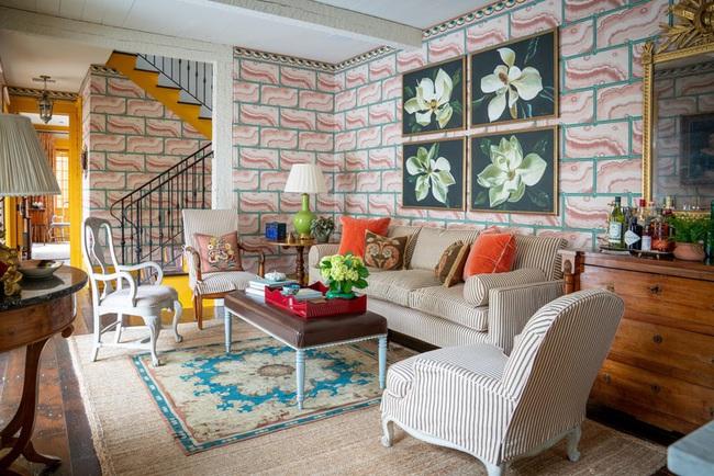 Cùng ngắm các mẫu phòng khách chỉ dành cho những ai yêu thích màu nổi - Ảnh 1.