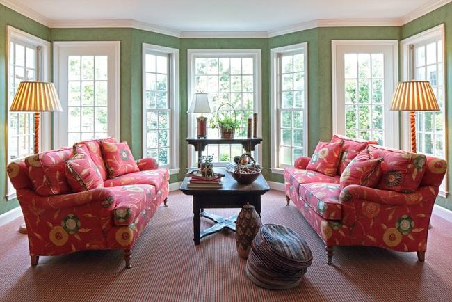 Cùng ngắm các mẫu phòng khách chỉ dành cho những ai yêu thích màu nổi - Ảnh 2.